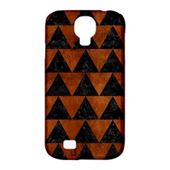 Triangle2 Black Marble & Brown Burl Wood Samsung Galaxy S4 Classic Hardshell Case (pc+silicone) by trendistuff