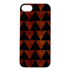 Triangle2 Black Marble & Brown Burl Wood Apple Iphone 5s/ Se Hardshell Case by trendistuff