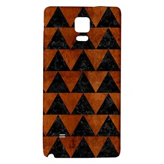 Triangle2 Black Marble & Brown Burl Wood Samsung Note 4 Hardshell Back Case by trendistuff