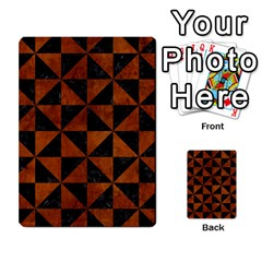 Triangle1 Black Marble & Brown Burl Wood Multi Purpose Cards (rectangle) by trendistuff