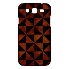 Triangle1 Black Marble & Brown Burl Wood Samsung Galaxy Mega 5 8 I9152 Hardshell Case  by trendistuff