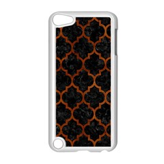 Tile1 Black Marble & Brown Burl Wood Apple Ipod Touch 5 Case (white) by trendistuff