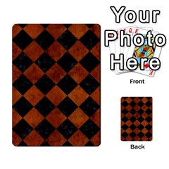 Square2 Black Marble & Brown Burl Wood Multi Purpose Cards (rectangle) by trendistuff