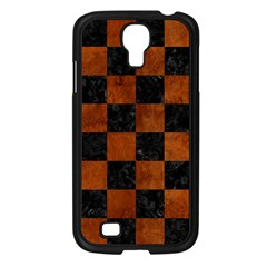 Square1 Black Marble & Brown Burl Wood Samsung Galaxy S4 I9500/ I9505 Case (black) by trendistuff