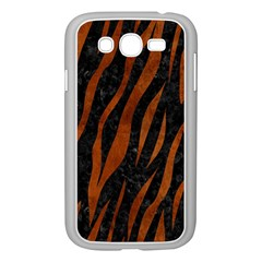 Skin3 Black Marble & Brown Burl Wood Samsung Galaxy Grand Duos I9082 Case (white) by trendistuff