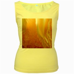 Floating Subdued Peach Women s Yellow Tank Tops by timelessartoncanvas