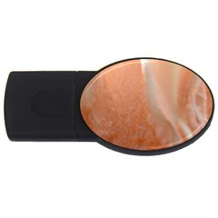 Floating Subdued Peach Usb Flash Drive Oval (4 Gb)