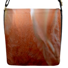 Floating Subdued Peach Flap Messenger Bag (s) by timelessartoncanvas
