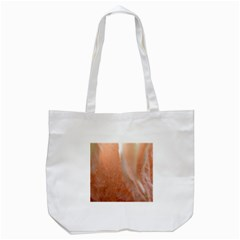 Floating Subdued Peach Tote Bag (white) by timelessartoncanvas