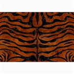 SKIN2 BLACK MARBLE & BROWN BURL WOOD (R) Collage 12  x 18  18 x12  Print - 2