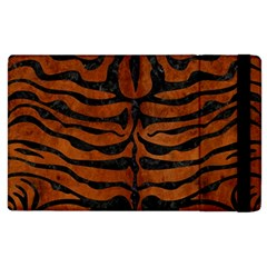 Skin2 Black Marble & Brown Burl Wood (r) Apple Ipad 2 Flip Case by trendistuff