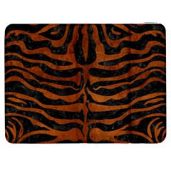 Skin2 Black Marble & Brown Burl Wood Samsung Galaxy Tab 7  P1000 Flip Case by trendistuff