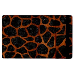 Skin1 Black Marble & Brown Burl Wood (r) Apple Ipad 2 Flip Case by trendistuff