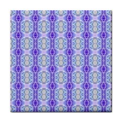 Light Blue Purple White Girly Pattern Tile Coasters by Costasonlineshop