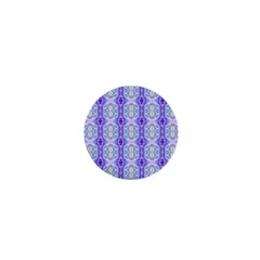Light Blue Purple White Girly Pattern 1  Mini Magnets by Costasonlineshop