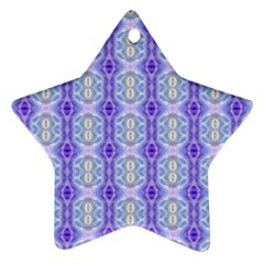 Light Blue Purple White Girly Pattern Ornament (star)  by Costasonlineshop
