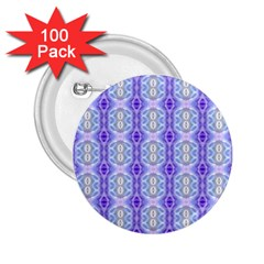 Light Blue Purple White Girly Pattern 2 25  Buttons (100 Pack)