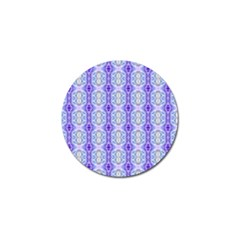 Light Blue Purple White Girly Pattern Golf Ball Marker (10 Pack) by Costasonlineshop