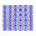 Light Blue Purple White Girly Pattern Small Glasses Cloth Front