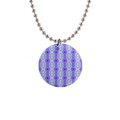 Light Blue Purple White Girly Pattern Button Necklaces