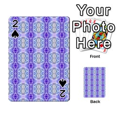 Light Blue Purple White Girly Pattern Playing Cards 54 Designs