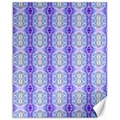 Light Blue Purple White Girly Pattern Canvas 16  X 20