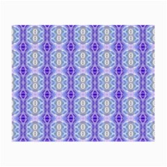 Light Blue Purple White Girly Pattern Small Glasses Cloth (2 Side) by Costasonlineshop
