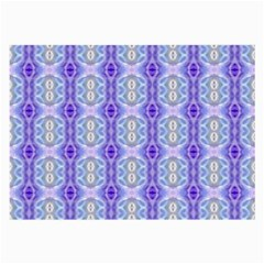 Light Blue Purple White Girly Pattern Large Glasses Cloth (2 Side)