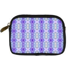 Light Blue Purple White Girly Pattern Digital Camera Cases by Costasonlineshop