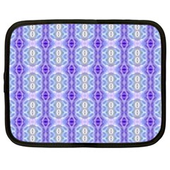Light Blue Purple White Girly Pattern Netbook Case (xl)  by Costasonlineshop