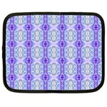 Light Blue Purple White Girly Pattern Netbook Case (XXL)  Front