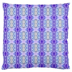 Light Blue Purple White Girly Pattern Large Cushion Cases (one Side)  by Costasonlineshop
