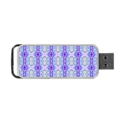 Light Blue Purple White Girly Pattern Portable Usb Flash (one Side)