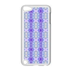 Light Blue Purple White Girly Pattern Apple Ipod Touch 5 Case (white) by Costasonlineshop