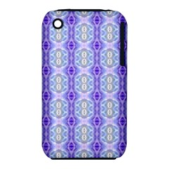 Light Blue Purple White Girly Pattern Apple Iphone 3g/3gs Hardshell Case (pc+silicone)