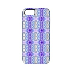 Light Blue Purple White Girly Pattern Apple Iphone 5 Classic Hardshell Case (pc+silicone)