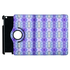 Light Blue Purple White Girly Pattern Apple Ipad 3/4 Flip 360 Case