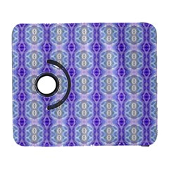 Light Blue Purple White Girly Pattern Samsung Galaxy S  Iii Flip 360 Case by Costasonlineshop