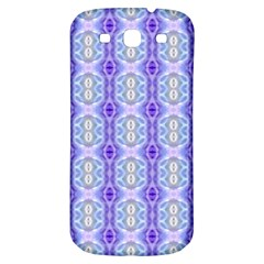 Light Blue Purple White Girly Pattern Samsung Galaxy S3 S Iii Classic Hardshell Back Case