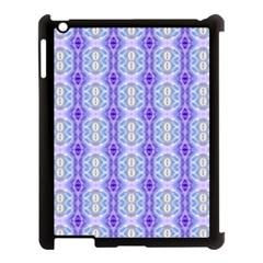 Light Blue Purple White Girly Pattern Apple Ipad 3/4 Case (black) by Costasonlineshop