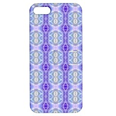 Light Blue Purple White Girly Pattern Apple Iphone 5 Hardshell Case With Stand