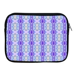 Light Blue Purple White Girly Pattern Apple Ipad 2/3/4 Zipper Cases