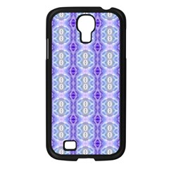 Light Blue Purple White Girly Pattern Samsung Galaxy S4 I9500/ I9505 Case (black) by Costasonlineshop