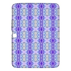 Light Blue Purple White Girly Pattern Samsung Galaxy Tab 3 (10 1 ) P5200 Hardshell Case  by Costasonlineshop