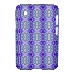 Light Blue Purple White Girly Pattern Samsung Galaxy Tab 2 (7 ) P3100 Hardshell Case  by Costasonlineshop