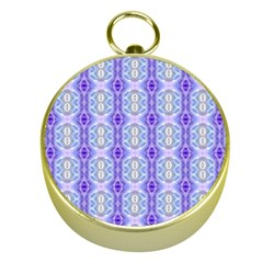 Light Blue Purple White Girly Pattern Gold Compasses