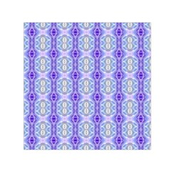 Light Blue Purple White Girly Pattern Small Satin Scarf (square)