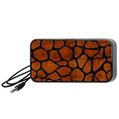 Skin1 Black Marble & Brown Burl Wood Portable Speaker (black) by trendistuff