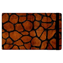 Skin1 Black Marble & Brown Burl Wood Apple Ipad 3/4 Flip Case by trendistuff
