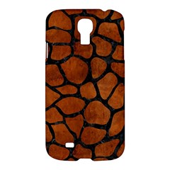 Skin1 Black Marble & Brown Burl Wood Samsung Galaxy S4 I9500/i9505 Hardshell Case by trendistuff